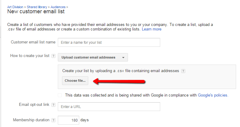 customer_email_upload_-_Adwords_retargeting