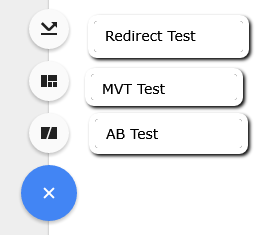 Google Optimise different testing options