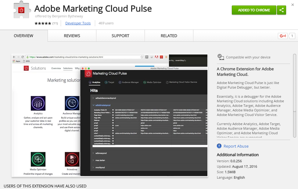 Adobe marketing cloud pulse extension